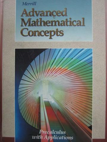 Merrill Advanced Mathematical Concepts Precalculus W