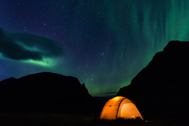 Northern Lights Camping
