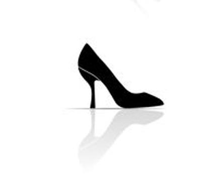 Schuh Pfennigabsatz