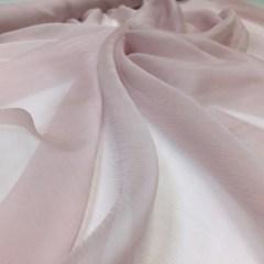 Voal creponat de matase naturala (muselina) roz-lila pal