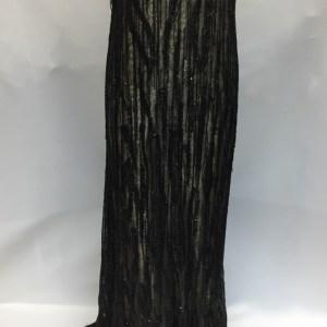 Dantela neagra cu franjuri din margele