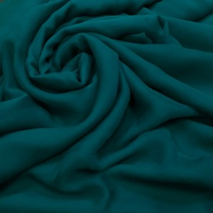 Voal creponat de matase naturala (muselina) verde-marin inchis