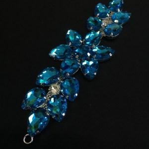 Accesoriu argintiu pietre bleu-turcoaz