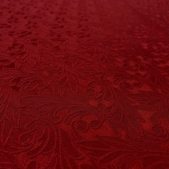 Brocart de bumbac rosu inchis