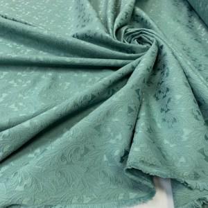 Brocart de bumbac verde-jad