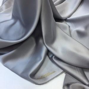 Tafta elastica Linda gri-perlat