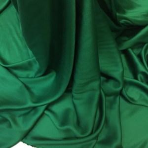 Batist de bumbac satinat verde-smarald