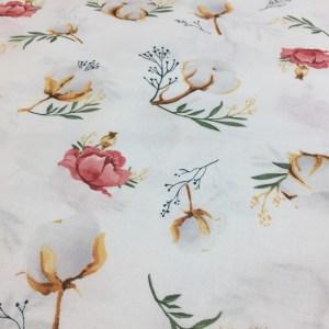 Bumbac ranforce imprimeu flori bumbac