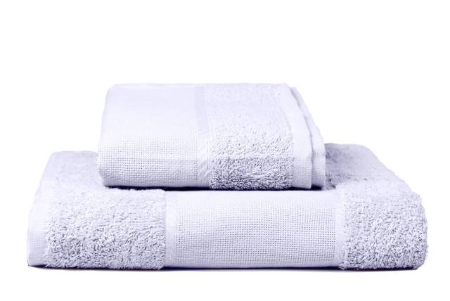 Stack of embroidery towels, purple