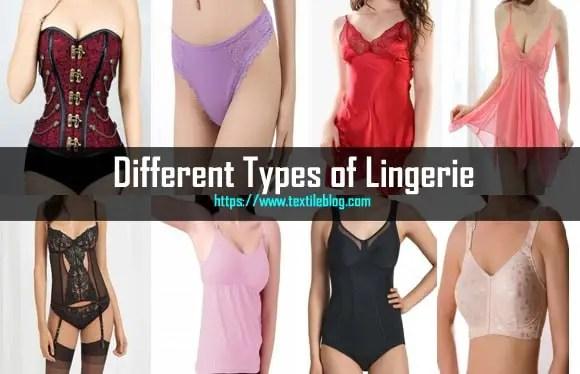 types of lingerie