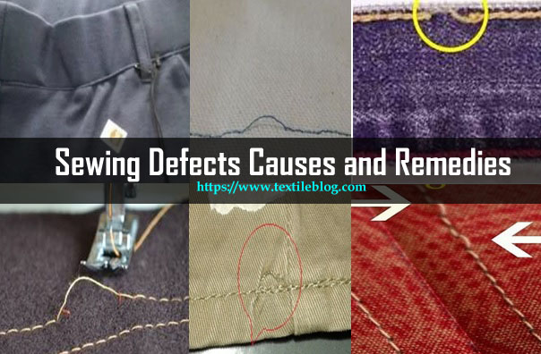 various sewing defects
