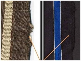 Bad Selvedge defect of woven fabric