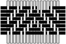 Zigzag twill weave