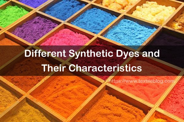 different synthetic dyes