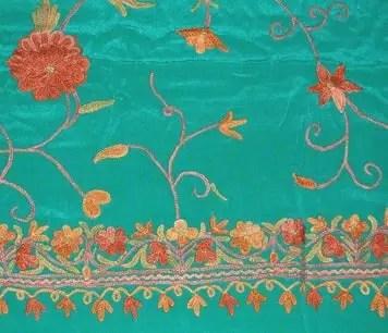 Kashmir silk fabric