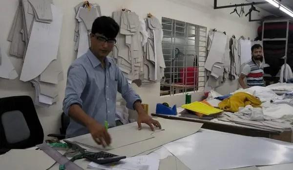 garment sample section