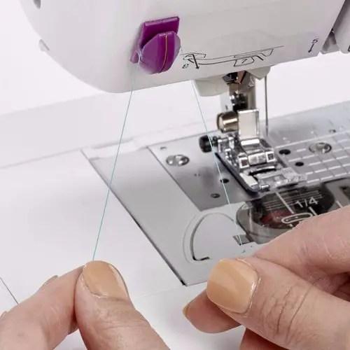 Thread cutter on sewing machine
