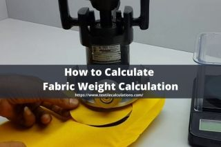 Calculate Fabric Weight Calculation