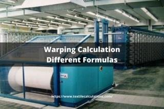 Warping Calculation Different Formulas