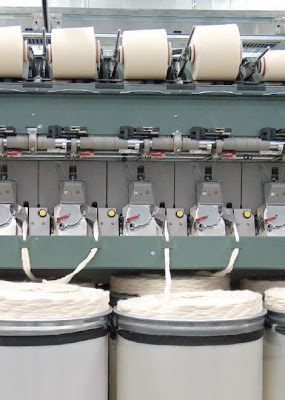 Flow Chart of Rotor Yarn Manufacturing Process