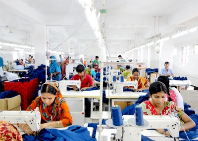 Sewing Section in Apparel Industry