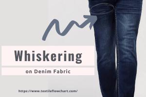 Whiskering on Denim Fabric