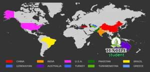 Map- Top 10 cotton producer country in the world