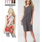 V1442 Misses Side Drape Tunic And Dress Textillia