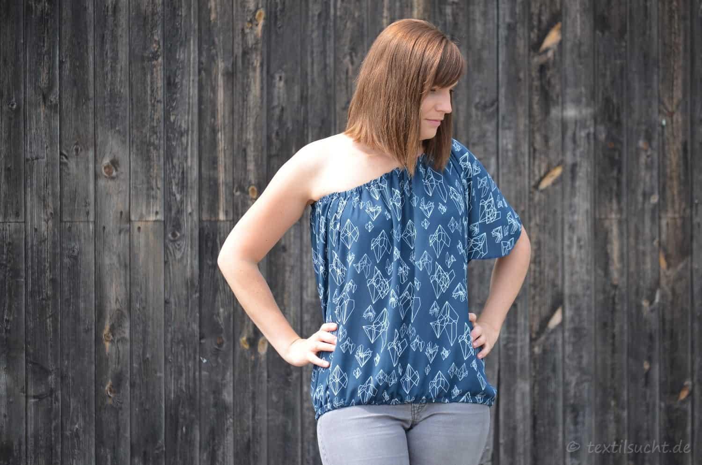 Schulterfreies Shirt selber nähen: Schnittmuster Schwerelos - Bild 1