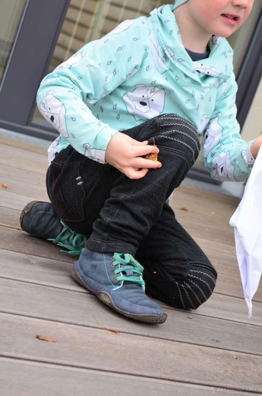 Schnittmuster Kinderhose Steppo aus Wollsweat - Bild 3 | textilsucht.de
