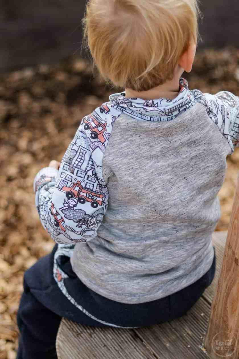 Kinderoutfit aus Walkhose und Sweater nähen - Bild 7 – textilsucht.de
