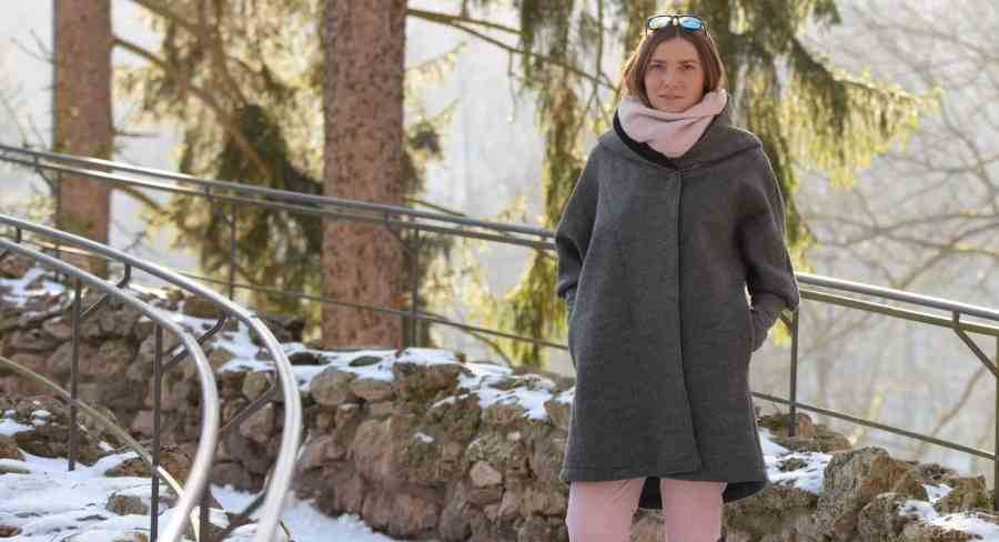 Schnittmuster Oversizejacke Mikala aus Wollwalk - Titelbild   textilsucht