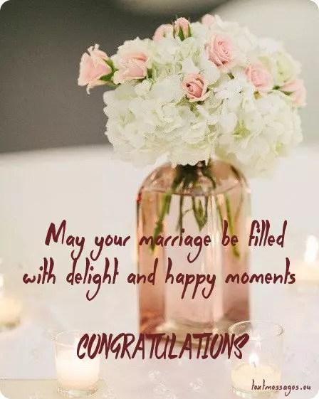 Wedding Congratulations Message 6