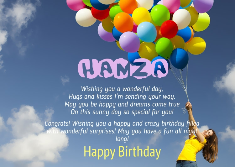 Birthday Congratulations For Hamza