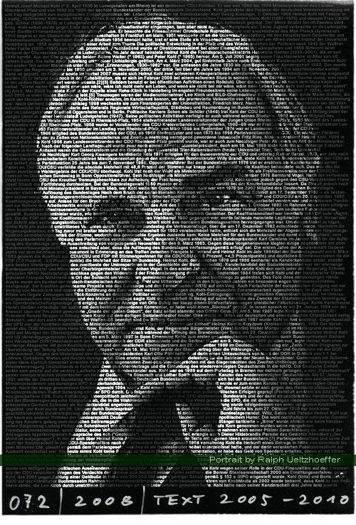 Helmut Kohl, Ralph Ueltzhoeffer Textportrait