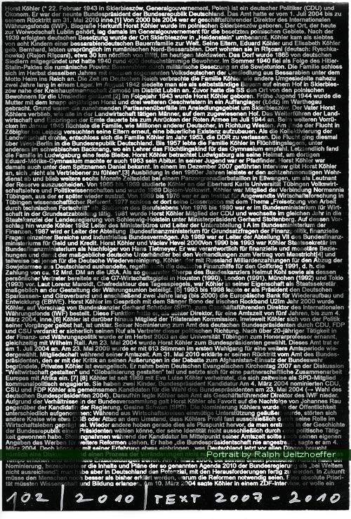 Horst Köhler, Ralph Ueltzhoeffer Textportrait