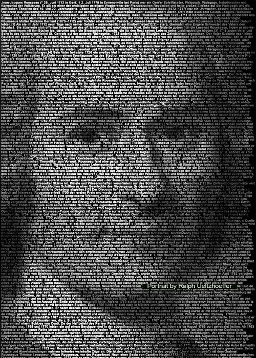 Jean Jacques Rousseau, Ralph Ueltzhoeffer Textportrait