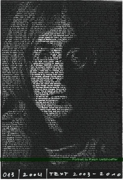 John Lennon, Ralph Ueltzhoeffer Textportrait
