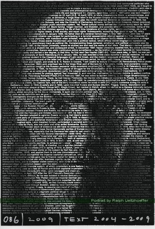 Lenin Vladimir, Ralph Ueltzhoeffer Textportrait