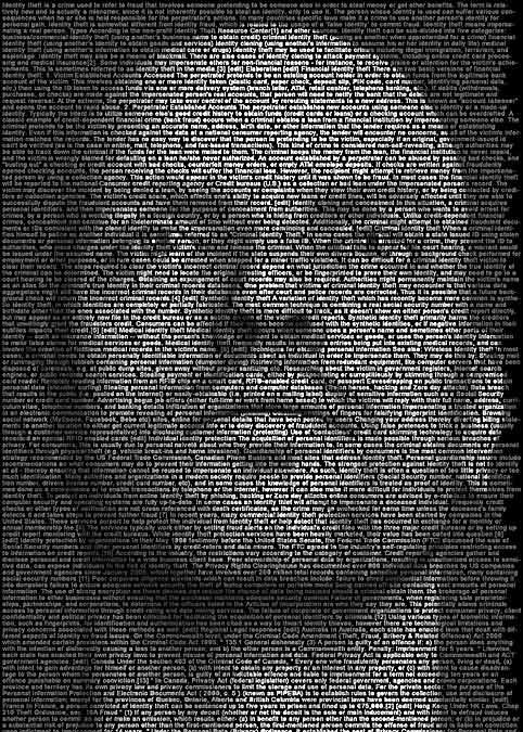 Identity - Textportrait von Ralph Ueltzhoeffer