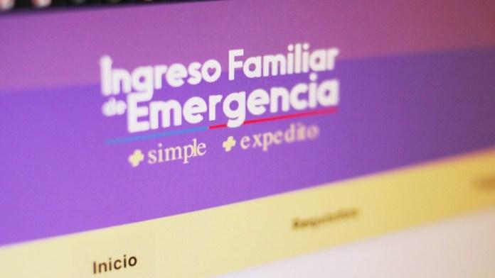 Pago del Ingreso Familiar de Emergencia