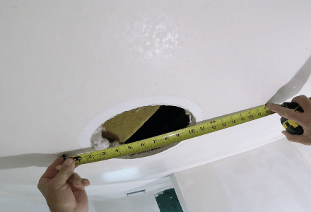 How to Patch Drywall Hole on Ceiling- Part 1- Installing the Drywall