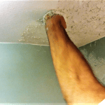 How to match knockdown texture water damaged ceiling repair