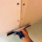 drywall repair mud work demonstration video