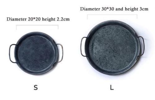 taglie vassoio metallo con manici