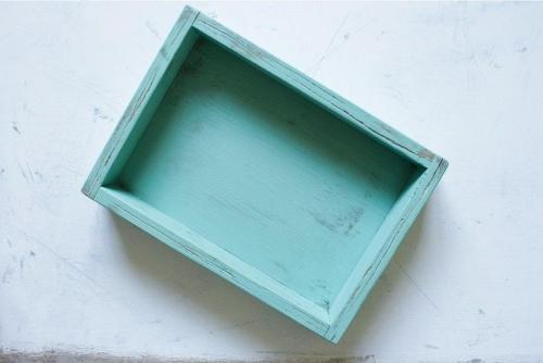 Shabby serving tray light blue