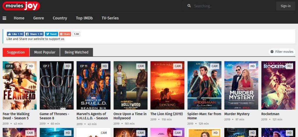 MoviesJoy - Free movies streaming, watch movies online