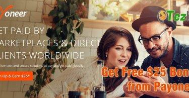 Payoneer free $25 Bonus offer