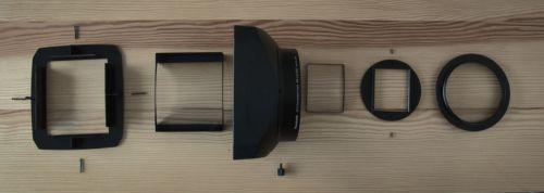 disassembled panasonic la7200 anamorphic lens