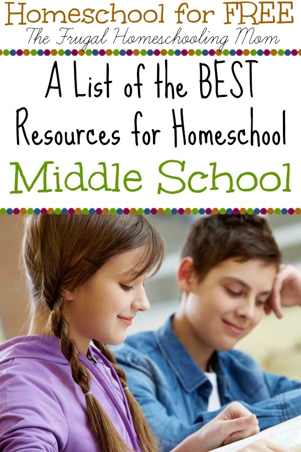 Homeschool for Free printables and deals for middle school The Frugal Homeschooling Mom tfhsm